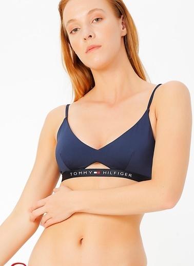 Tommy Hilfiger Bikini Üst Mavi